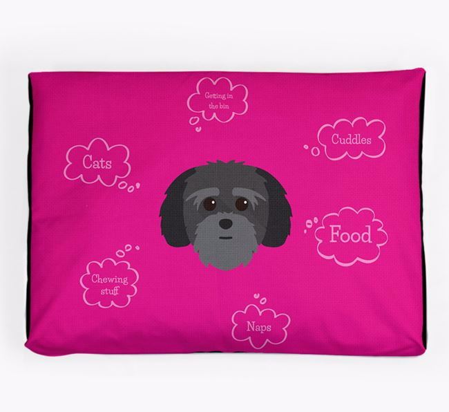 Personalised 'Sweet Dreams' Dog Bed for your Lhatese