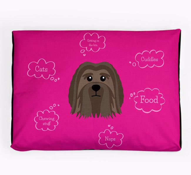 Personalised 'Sweet Dreams' Dog Bed for your Löwchen