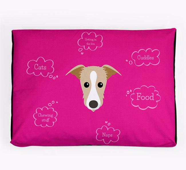 Personalised 'Sweet Dreams' Dog Bed for your Lurcher