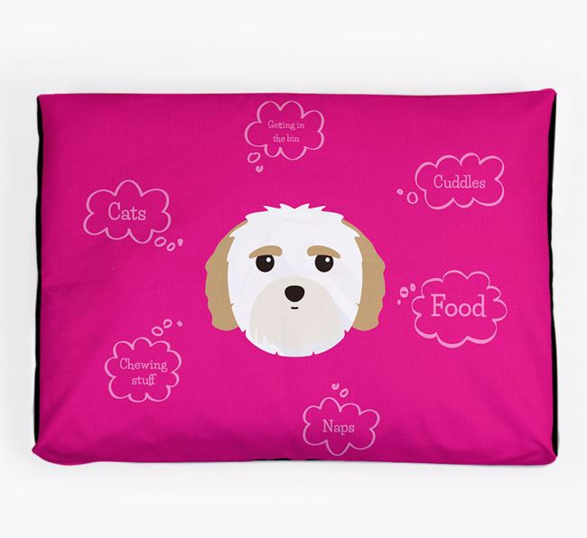 Personalised 'Sweet Dreams' Dog Bed for your Mal-Shi