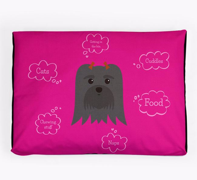 Personalised 'Sweet Dreams' Dog Bed for your Maltese