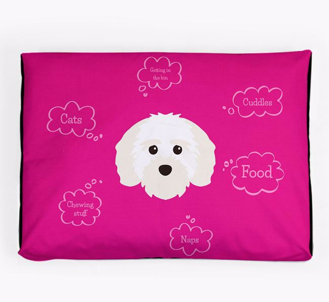 Personalised 'Sweet Dreams' Dog Bed for your Maltichon
