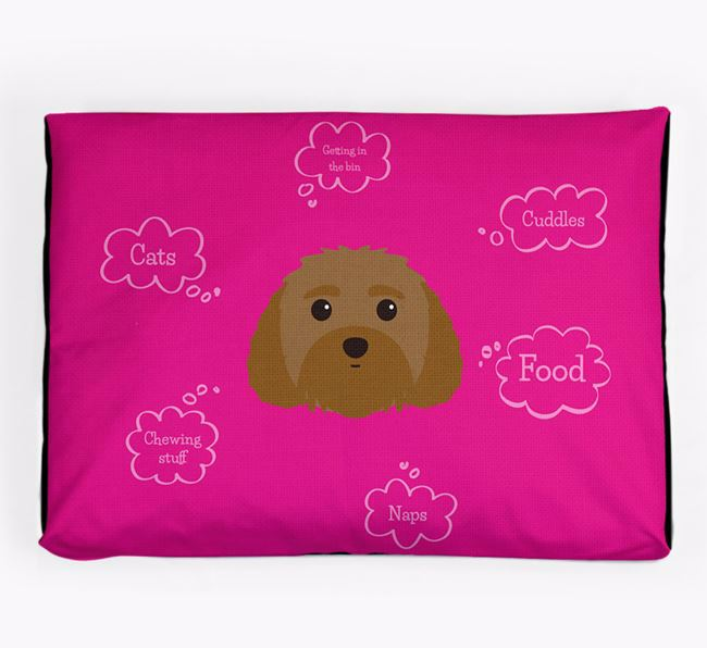 Personalised 'Sweet Dreams' Dog Bed for your Malti-Poo