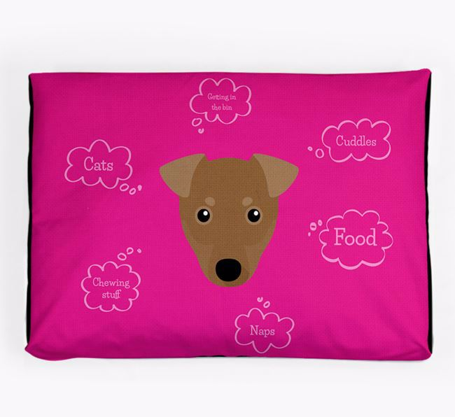 Personalised 'Sweet Dreams' Dog Bed for your Manchester Terrier