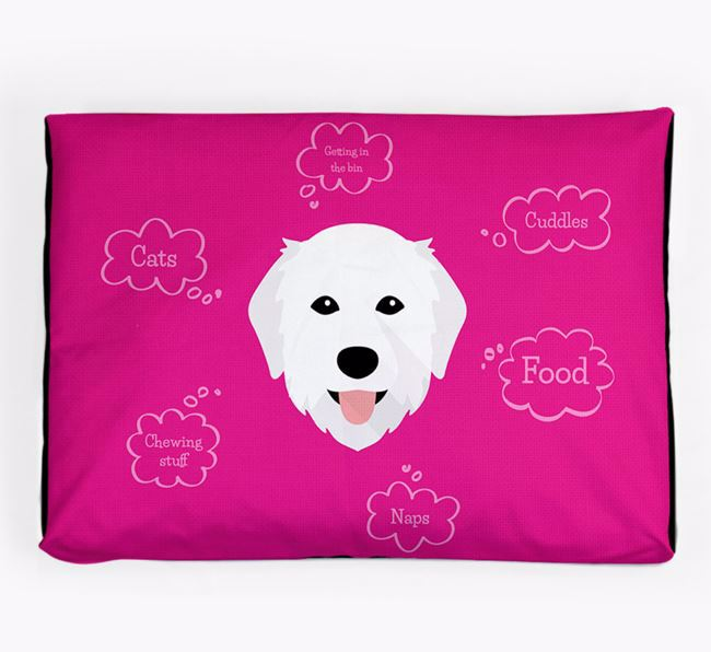 Personalised 'Sweet Dreams' Dog Bed for your Maremma Sheepdog