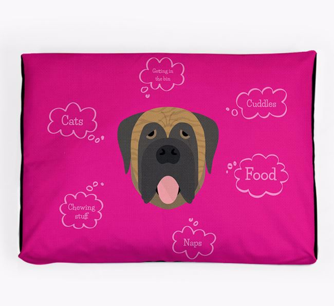 Personalised 'Sweet Dreams' Dog Bed for your Mastiff