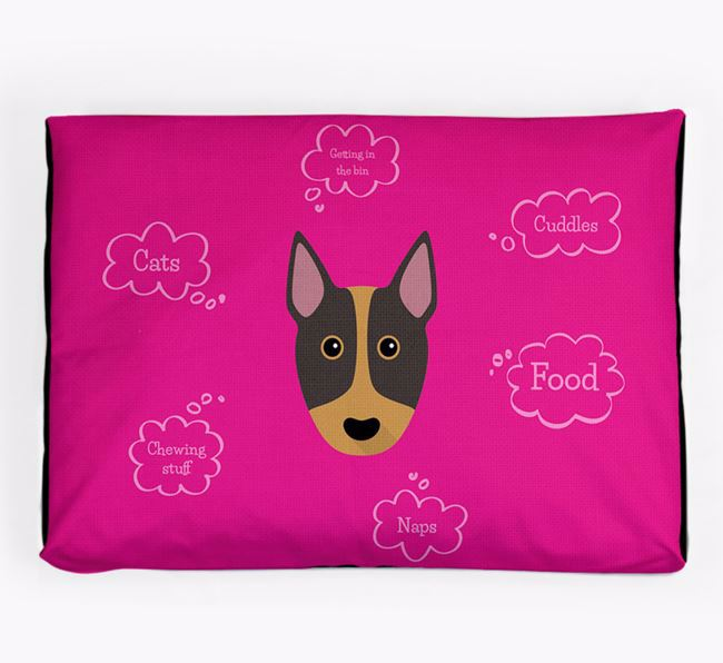 Personalised 'Sweet Dreams' Dog Bed for your Miniature Bull Terrier