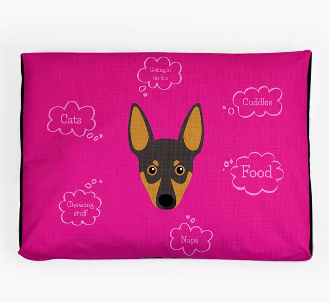 Personalised 'Sweet Dreams' Dog Bed for your Miniature Pinscher