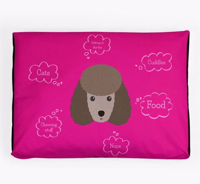 Personalised 'Sweet Dreams' Dog Bed for your Miniature Poodle