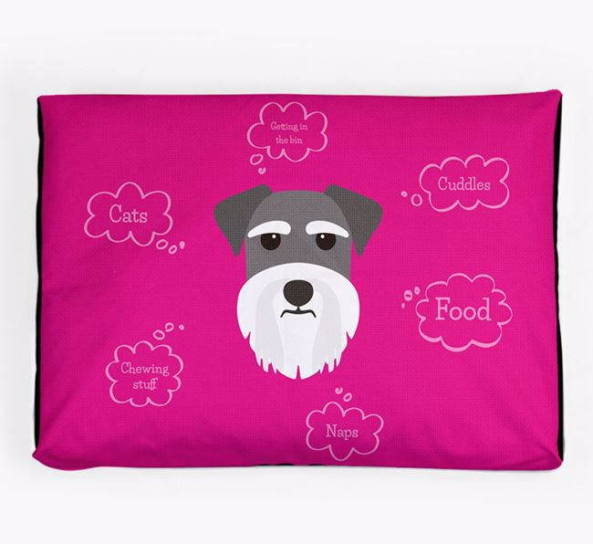 Personalised 'Sweet Dreams' Dog Bed for your Miniature Schnauzer