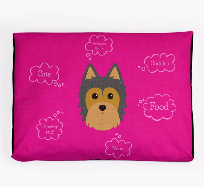 Personalised 'Sweet Dreams' Dog Bed for your Morkie
