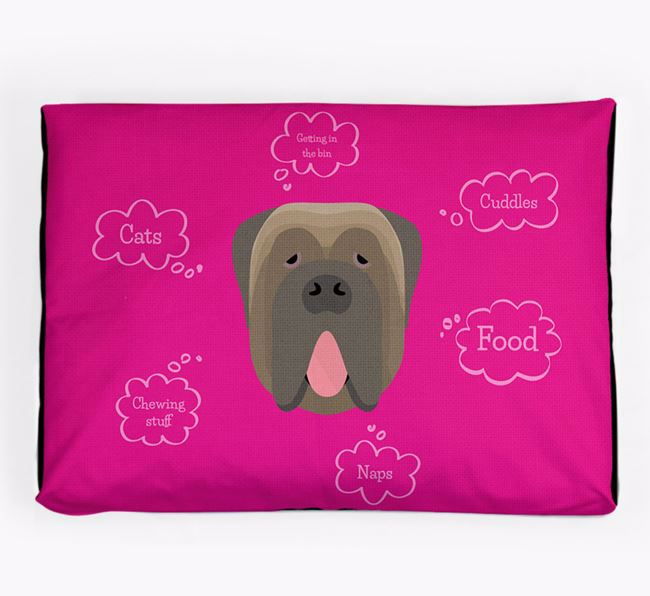 Personalised 'Sweet Dreams' Dog Bed for your Neapolitan Mastiff