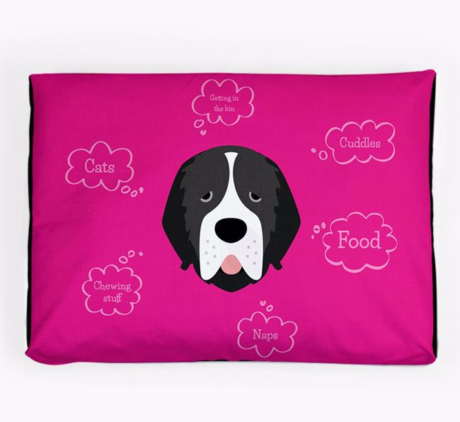 Personalised 'Sweet Dreams' Dog Bed for your Newfoundland