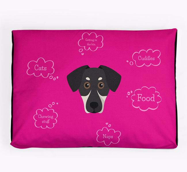 Personalised 'Sweet Dreams' Dog Bed for your New Zealand Huntaway