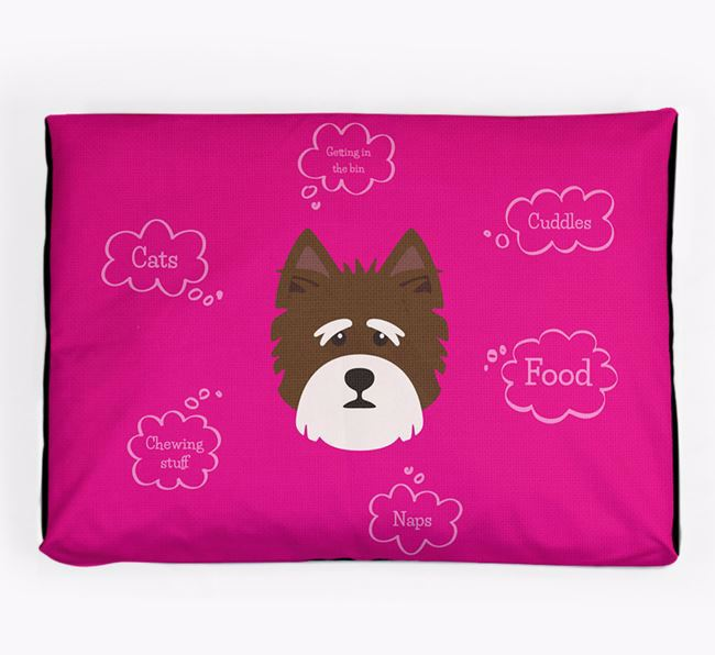 Personalised 'Sweet Dreams' Dog Bed for your Norfolk Terrier