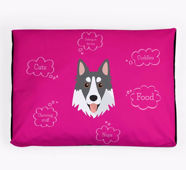 Personalised 'Sweet Dreams' Dog Bed for your Northern Inuit