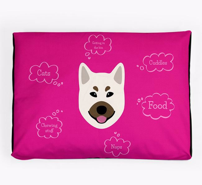 Personalised 'Sweet Dreams' Dog Bed for your Norwegian Buhund