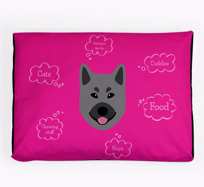 Personalised 'Sweet Dreams' Dog Bed for your Norwegian Elkhound