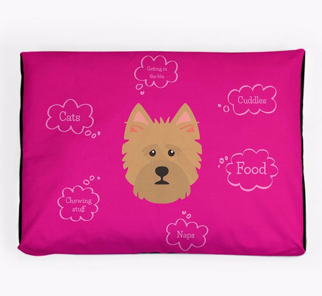 Personalised 'Sweet Dreams' Dog Bed for your Norwich Terrier