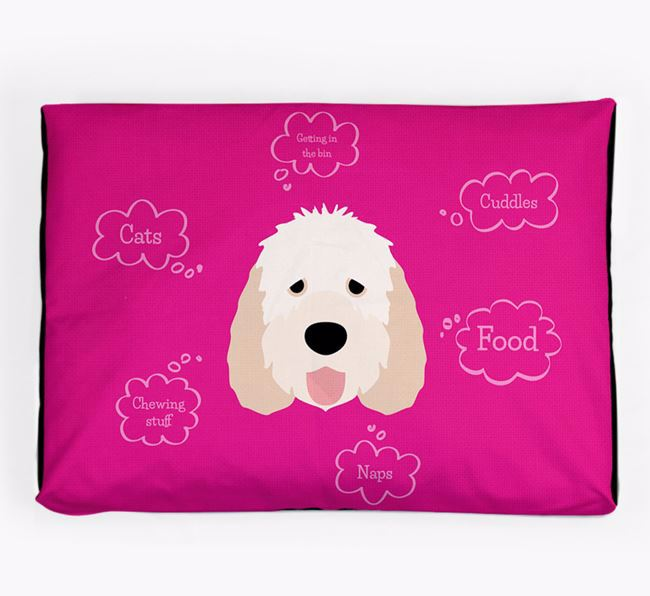 Personalised 'Sweet Dreams' Dog Bed for your Otterhound