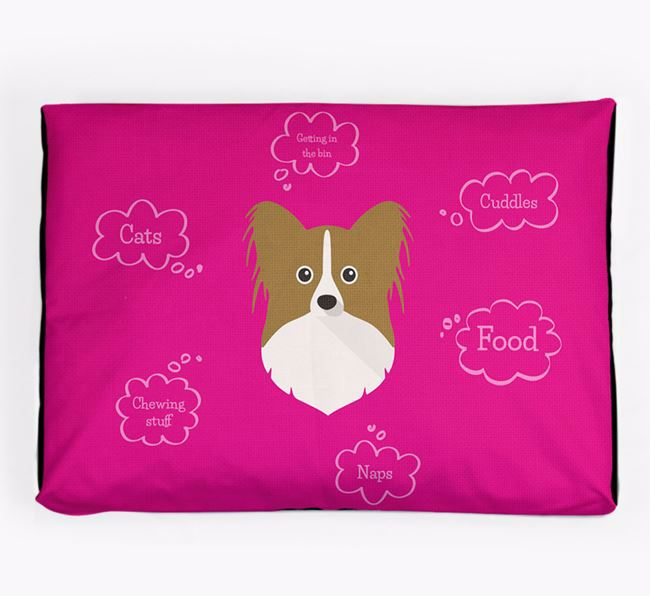 Personalised 'Sweet Dreams' Dog Bed for your Papillon