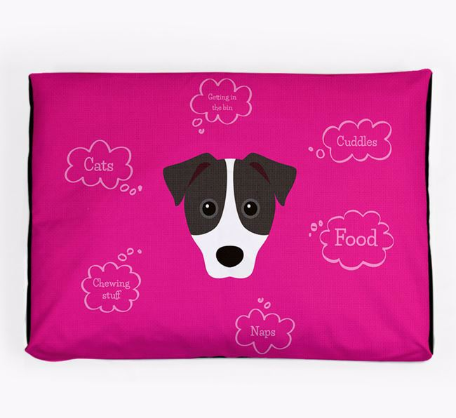 Personalised 'Sweet Dreams' Dog Bed for your Parson Russell Terrier