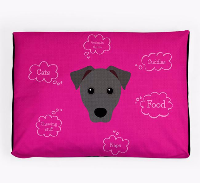 Personalised 'Sweet Dreams' Dog Bed for your Patterdale Terrier