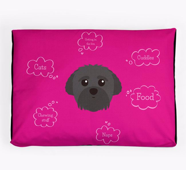 Personalised 'Sweet Dreams' Dog Bed for your Peek-a-poo