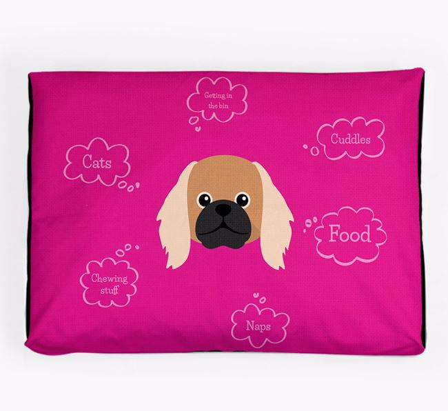 Personalised 'Sweet Dreams' Dog Bed for your Pekingese