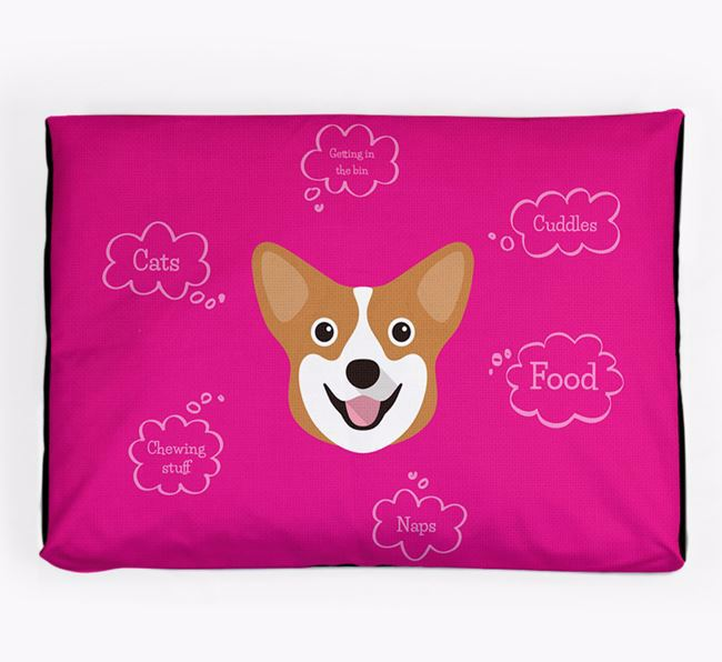Personalised 'Sweet Dreams' Dog Bed for your Pembroke Welsh Corgi