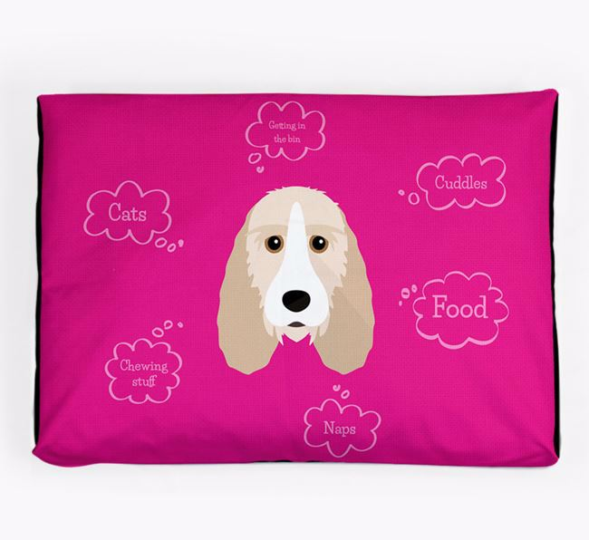 Personalised 'Sweet Dreams' Dog Bed for your Petit Basset Griffon Vendeen