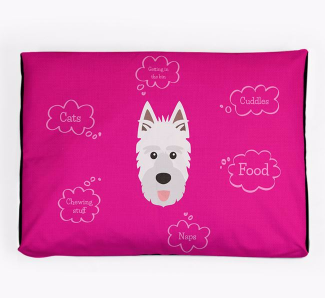 Personalised 'Sweet Dreams' Dog Bed for your Picardy Sheepdog