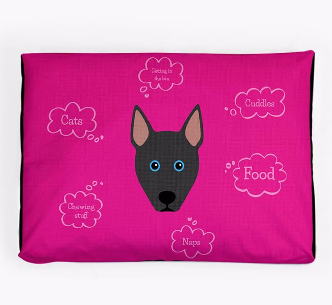 Personalised 'Sweet Dreams' Dog Bed for your Pitsky