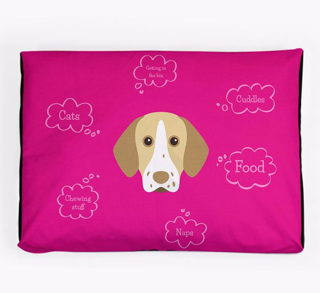 Personalised 'Sweet Dreams' Dog Bed for your Pointer