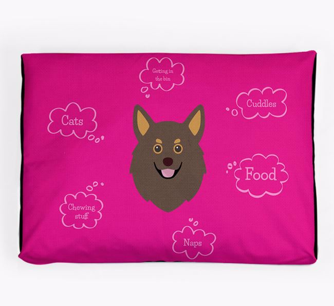 Personalised 'Sweet Dreams' Dog Bed for your Pomchi