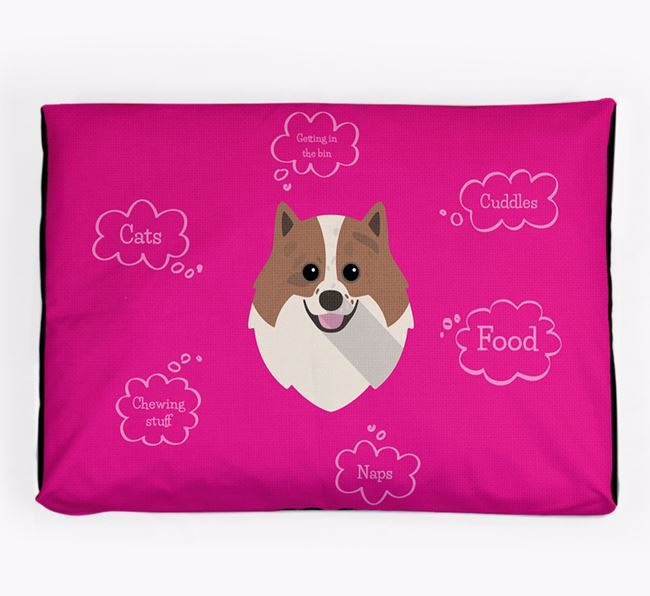 Personalised 'Sweet Dreams' Dog Bed for your Pomeranian