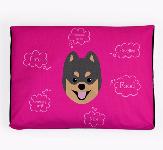 Personalised 'Sweet Dreams' Dog Bed for your Pomsky