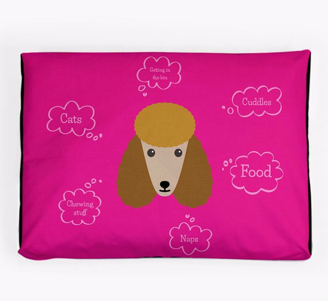 Personalised 'Sweet Dreams' Dog Bed for your Poodle