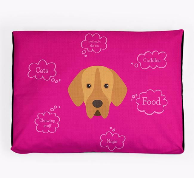 Personalised 'Sweet Dreams' Dog Bed for your Portuguese Pointer
