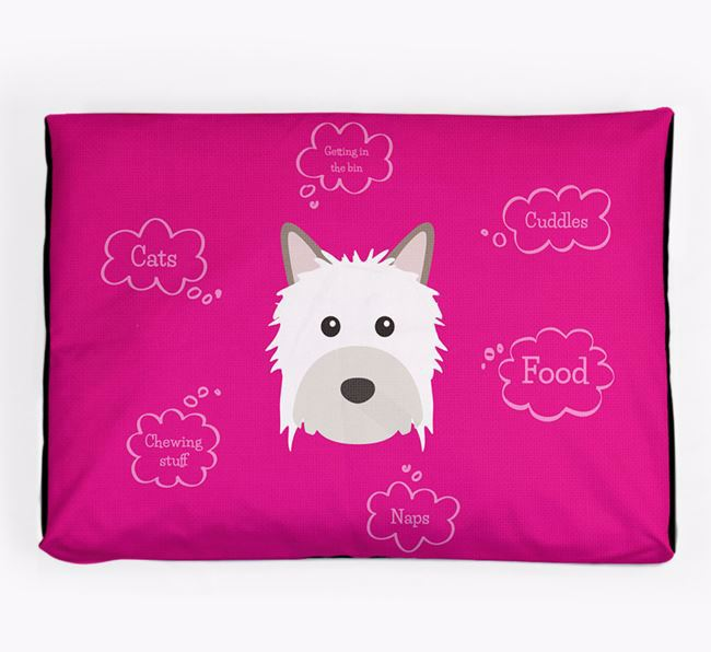 Personalised 'Sweet Dreams' Dog Bed for your Powderpuff Chinese Crested