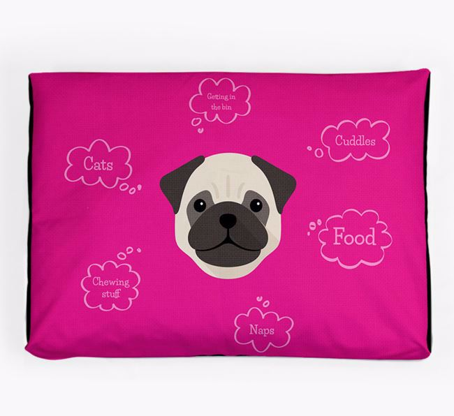 Personalised 'Sweet Dreams' Dog Bed for your Pug