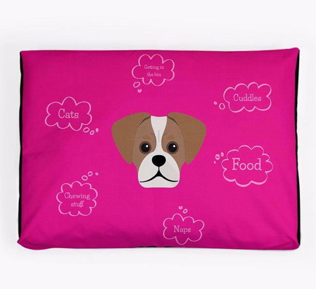 Personalised 'Sweet Dreams' Dog Bed for your Pugalier