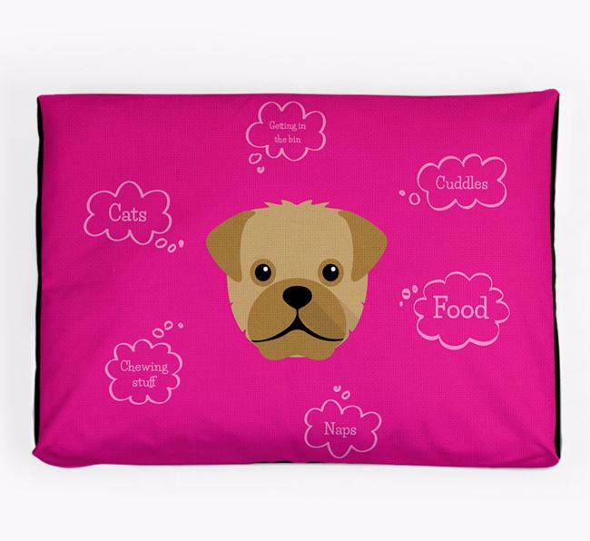 Personalised 'Sweet Dreams' Dog Bed for your Pugapoo