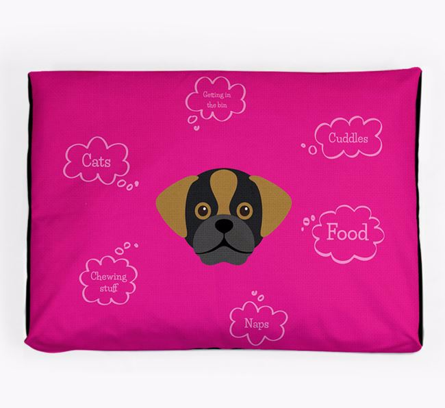 Personalised 'Sweet Dreams' Dog Bed for your Puggle