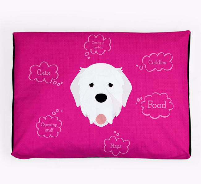 Personalised 'Sweet Dreams' Dog Bed for your Pyrenean Mastiff