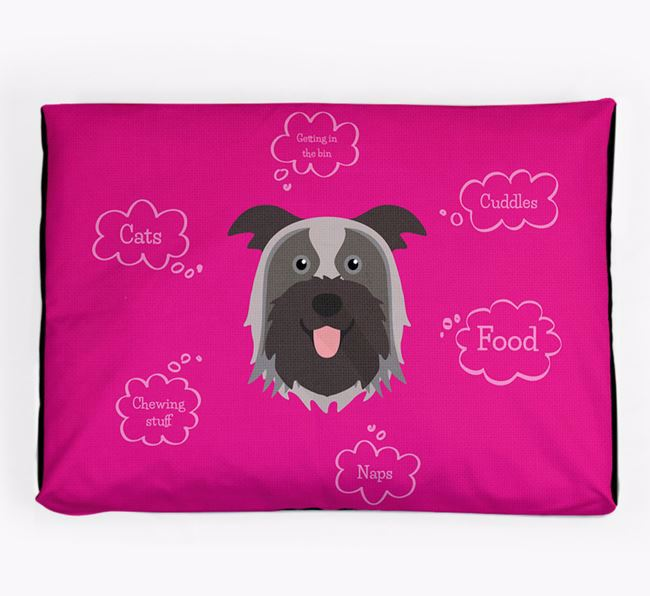 Personalised 'Sweet Dreams' Dog Bed for your Pyrenean Shepherd