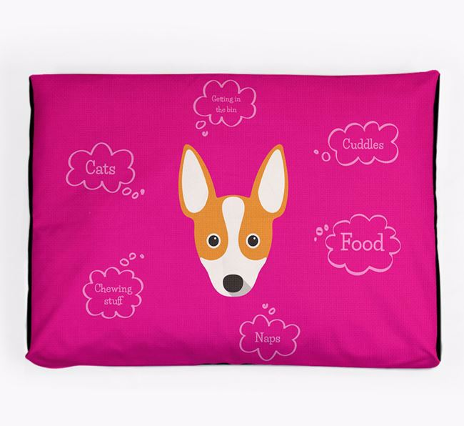 Personalised 'Sweet Dreams' Dog Bed for your Rat Terrier