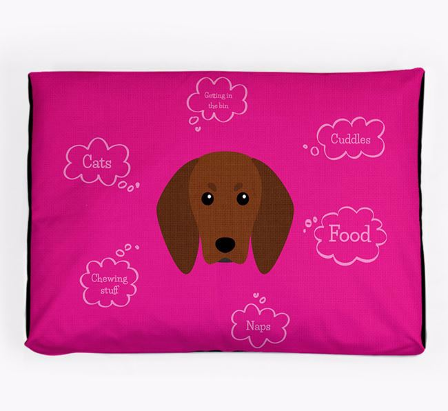 Personalised 'Sweet Dreams' Dog Bed for your Redbone Coonhound