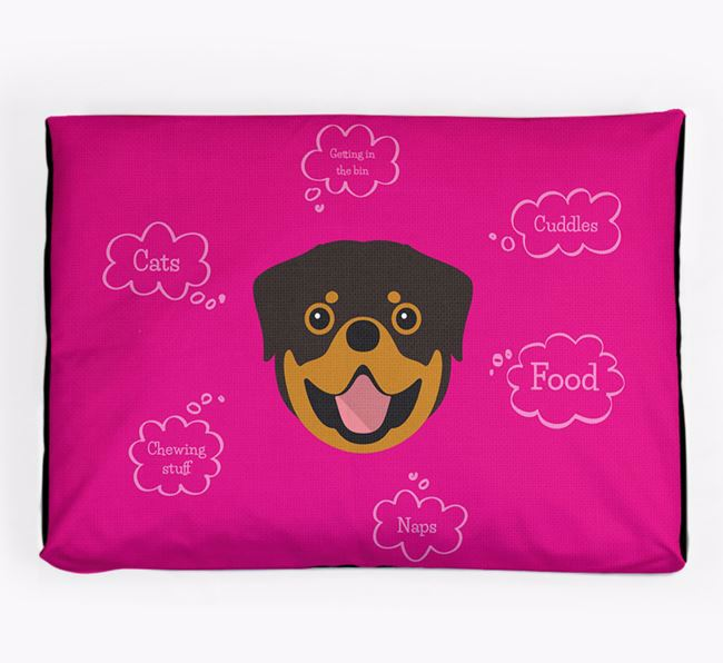 Personalised 'Sweet Dreams' Dog Bed for your Rottweiler
