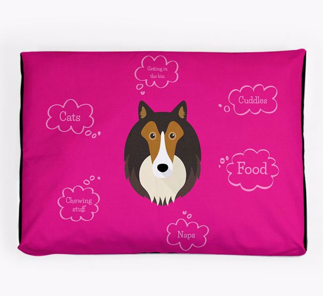 Personalised 'Sweet Dreams' Dog Bed for your Rough Collie